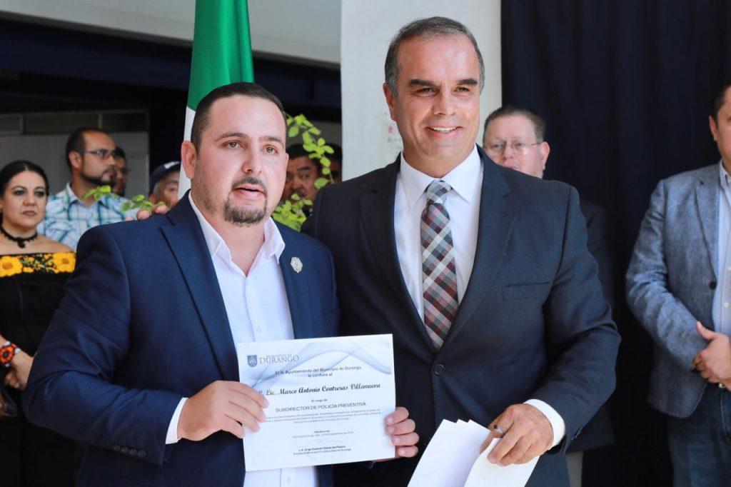 Marco Antonio Contreras en la subdirección de Policía Preventiva